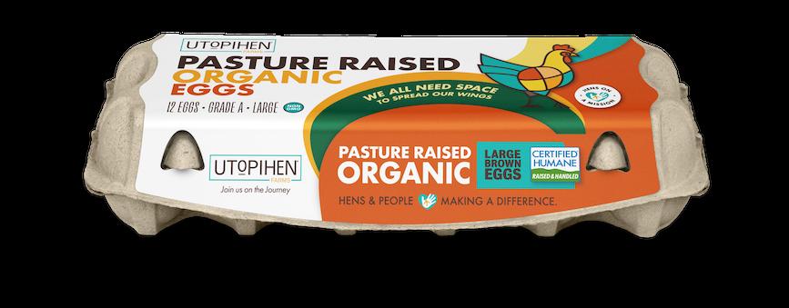 Utopihen Pasture Raised Organic Eggs