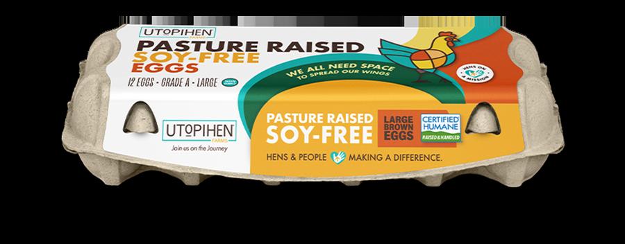 Utopihen Pasture Raised Soy-Free Eggs