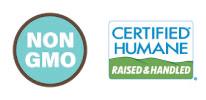 Non-GMO & Certified Humane Logo