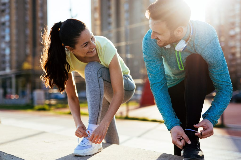 Healthy Couple Exercising