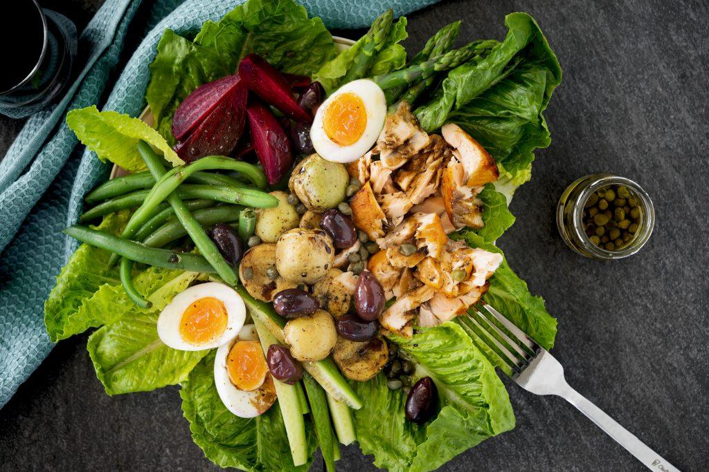 Overview of Salmon Nicoise Salad